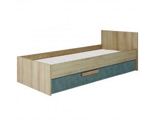 Jednolôžková posteľ (váľanda) s uložným priestorom Aygo AG12 - pieskový buk / peltro