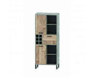 Trojdverová vitrína Bova TC-3D - pieskový dub / woodcon