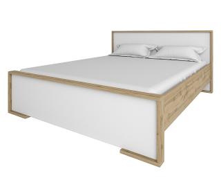Manželská posteľ s roštom Finni 1600 - dub wotan / biela