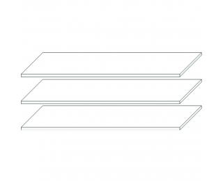 Police do šatníkovej skrine (3 ks) Finni SS-3D,4D - biela
