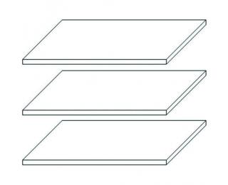 Police do šatníkovej skrine (3 ks) Finni SS-3D - biela