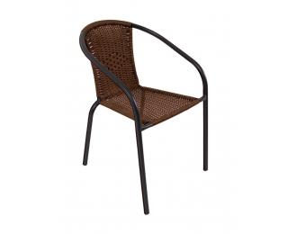 Záhradná stolička Herkules II - čierna / hnedá