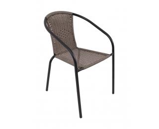 Záhradná stolička Herkules II - čierna / sivá