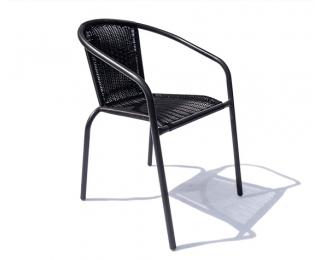 Záhradná stolička Herkules - čierna