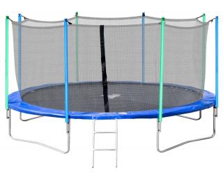 Trampolína Jumper 427 cm - čierna / modrá