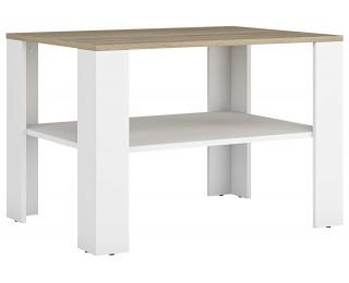 Konferenčný stolík Lerum - biela / dub sonoma