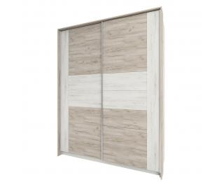 Šatníková skriňa s posuvnými dverami Malbo W-1800 - sivý dub craft / biely dub craft