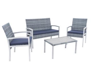 Záhradný nábytok z umelého ratanu Milagro - strieborná / sivá / modrá