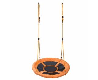 Detská hojdačka Nest 95 cm - čierna / oranžová