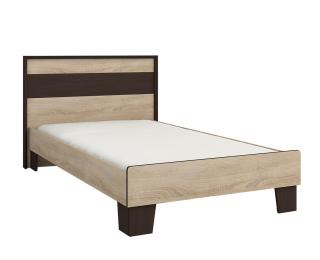 Jednolôžková posteľ (váľanda) s roštom Seina 900 - dub sonoma / wenge magic