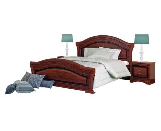 Rustikálna manželská posteľ Valenta 1600 - orech / orech antický