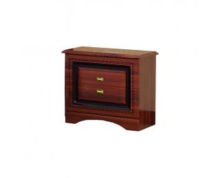 Rustikálny nočný stolík Valenta BC - orech / orech antický