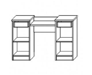 Rustikálny toaletný stolík Valenta DT - breza polárna / breza