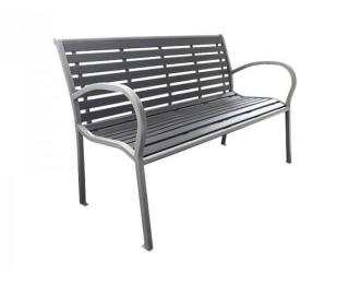 Záhradná lavička Zoya - svetlosivá / tmavosivá