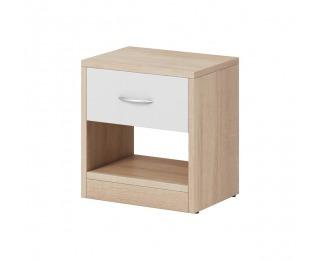 Nočný stolík Naka 1S - dub sonoma / biela