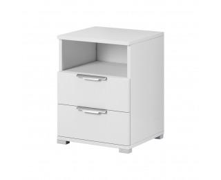 Nočný stolík Naka 2S - biela