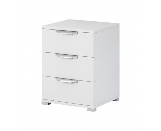 Nočný stolík Naka 3S - biela
