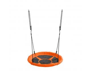 Detská hojdačka Nest 65 cm - čierna / oranžová