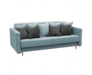 Rozkladacia pohovka s úložným priestorom Nido - modrá / sivá