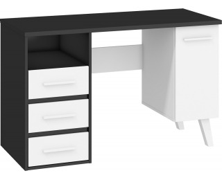 PC stôl Nordis NOR-01 - čierna / biela