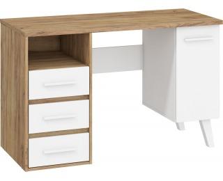 PC stôl Nordis NOR-01 - craft zlatý / biela