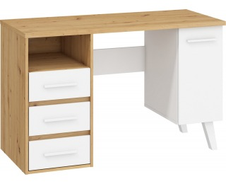 PC stôl Nordis NOR-01 - dub artisan / biela