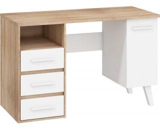 PC stôl Nordis NOR-01 - sonoma svetlá / biela