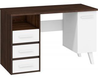 PC stôl Nordis NOR-01 - sonoma tmavá / biela