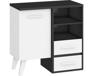 Komoda Nordis NOR-02 - čierna / biela