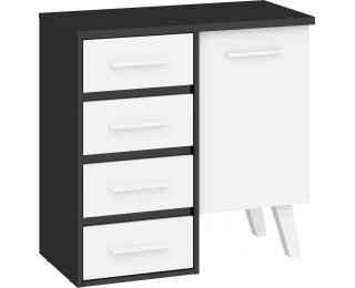 Komoda Nordis NOR-03 - čierna / biela