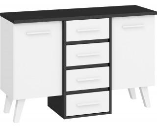 Komoda Nordis NOR-04 - čierna / biela