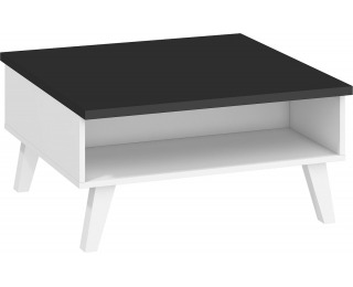 Konferenčný stolík Nordis NOR-06 - čierna / biela