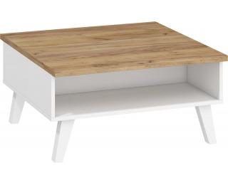 Konferenčný stolík Nordis NOR-06 - craft zlatý / biela