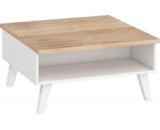 Konferenčný stolík Nordis NOR-06 - sonoma svetlá / biela