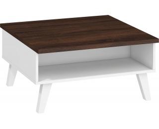 Konferenčný stolík Nordis NOR-06 - sonoma tmavá / biela