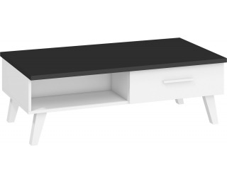 Konferenčný stolík Nordis NOR-07 - čierna / biela