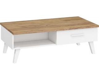 Konferenčný stolík Nordis NOR-07 - craft zlatý / biela