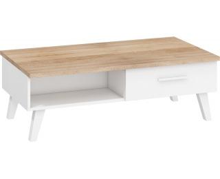 Konferenčný stolík Nordis NOR-07 - sonoma svetlá / biela