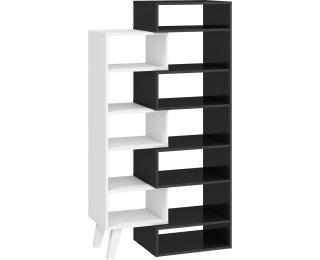 Regál Nordis NOR-12 - čierna / biela