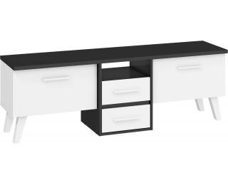 TV stolík Nordis NOR-13 - čierna / biela