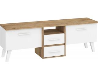 TV stolík Nordis NOR-13 - craft zlatý / biela