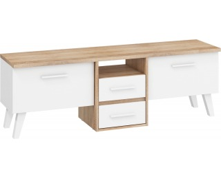 TV stolík Nordis NOR-13 - sonoma svetlá / biela