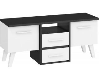 TV stolík Nordis NOR-14 - čierna / biela