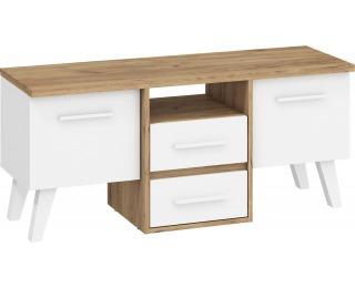 TV stolík Nordis NOR-14 - craft zlatý / biela