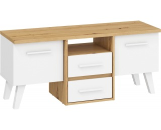 TV stolík Nordis NOR-14 - dub artisan / biela