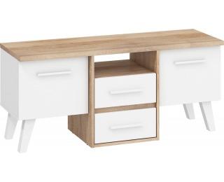 TV stolík Nordis NOR-14 - sonoma svetlá / biela