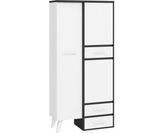 Šatníková skriňa Nordis NOR-15 2D - čierna / biela