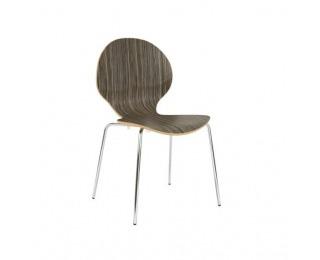 Jedálenská stolička Cafe VI - hnedo-béžová (H3005) / chróm