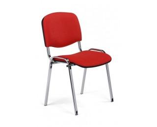Konferenčná stolička Iso Chróm - červená látka (C2)