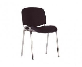 Konferenčná stolička Iso Chróm - čierna látka (C11)